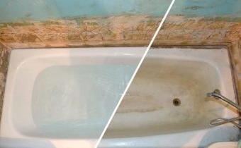ванна до и после чистки