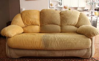 диван до и после чистки