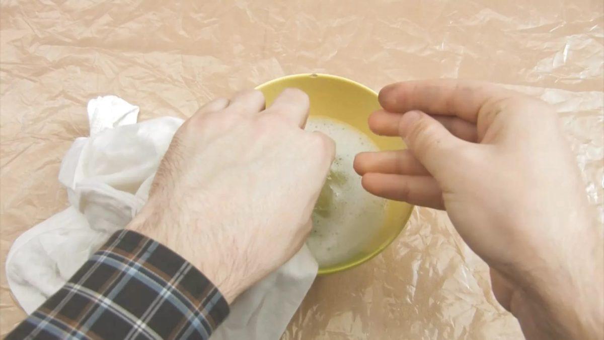 очищаем пятно