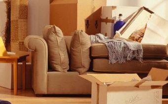диван и коробки