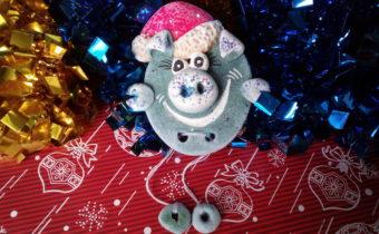 магнит Свинка на Новый год