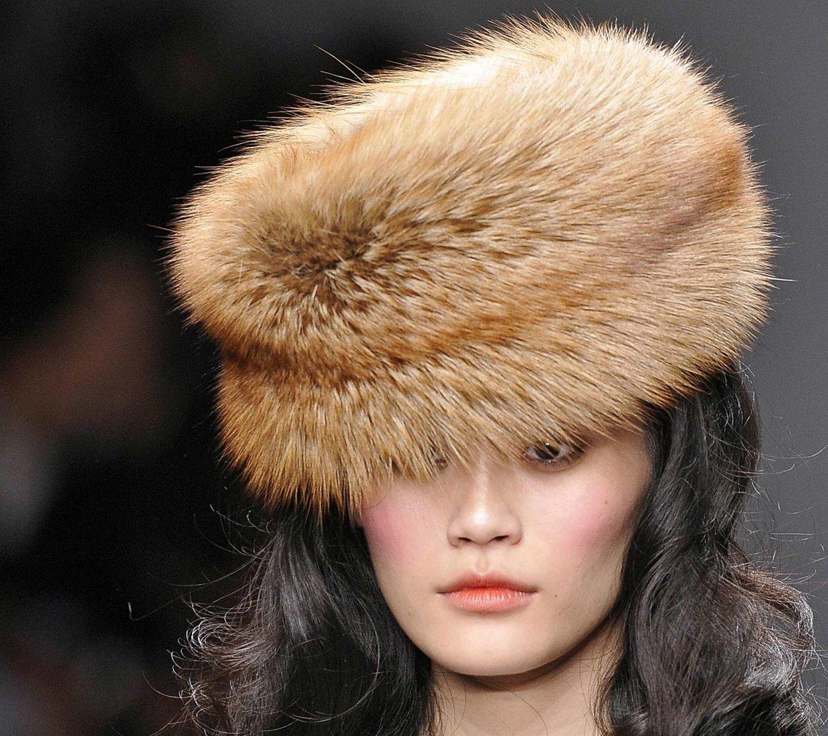 чистим шапку из меха