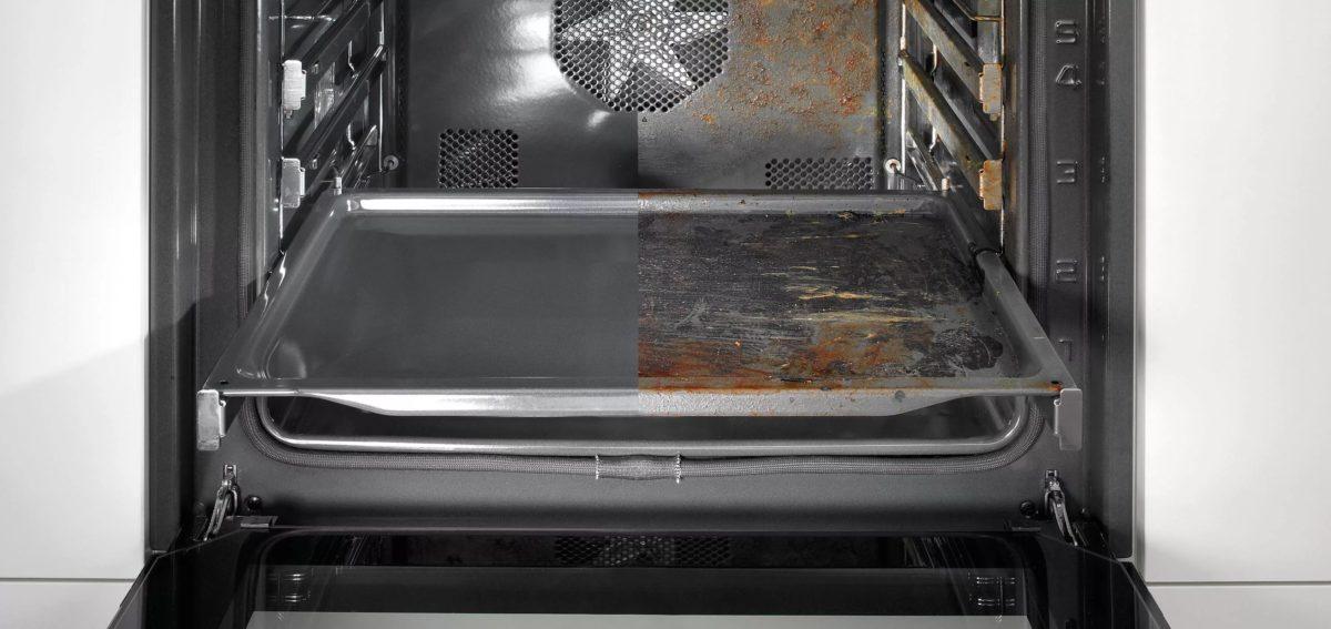 духовка до и после чистки