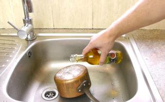чистим аллюминиевую кастрюлю