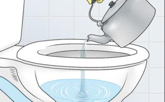 чистка горячей водой