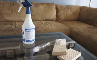чистим диван от мочи