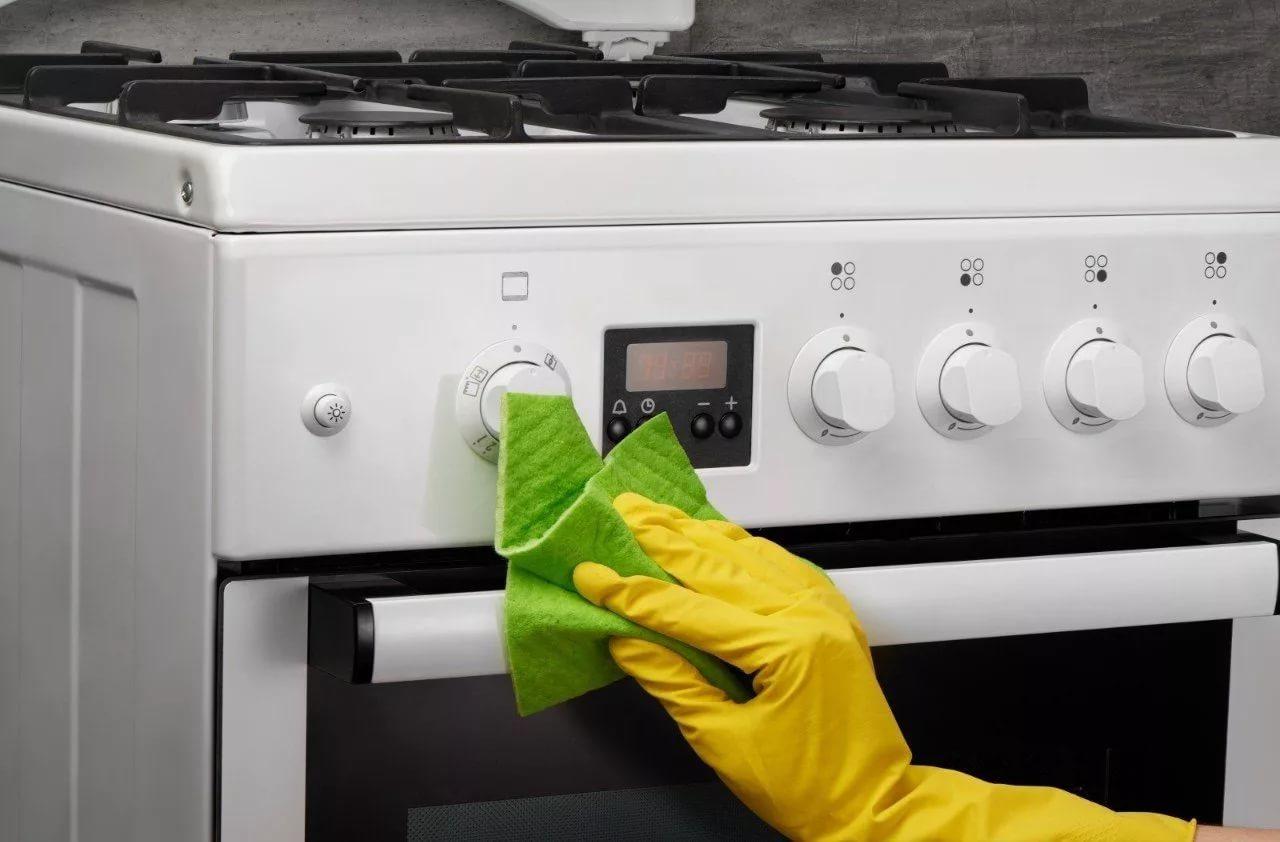 как почистить ручки у плиты