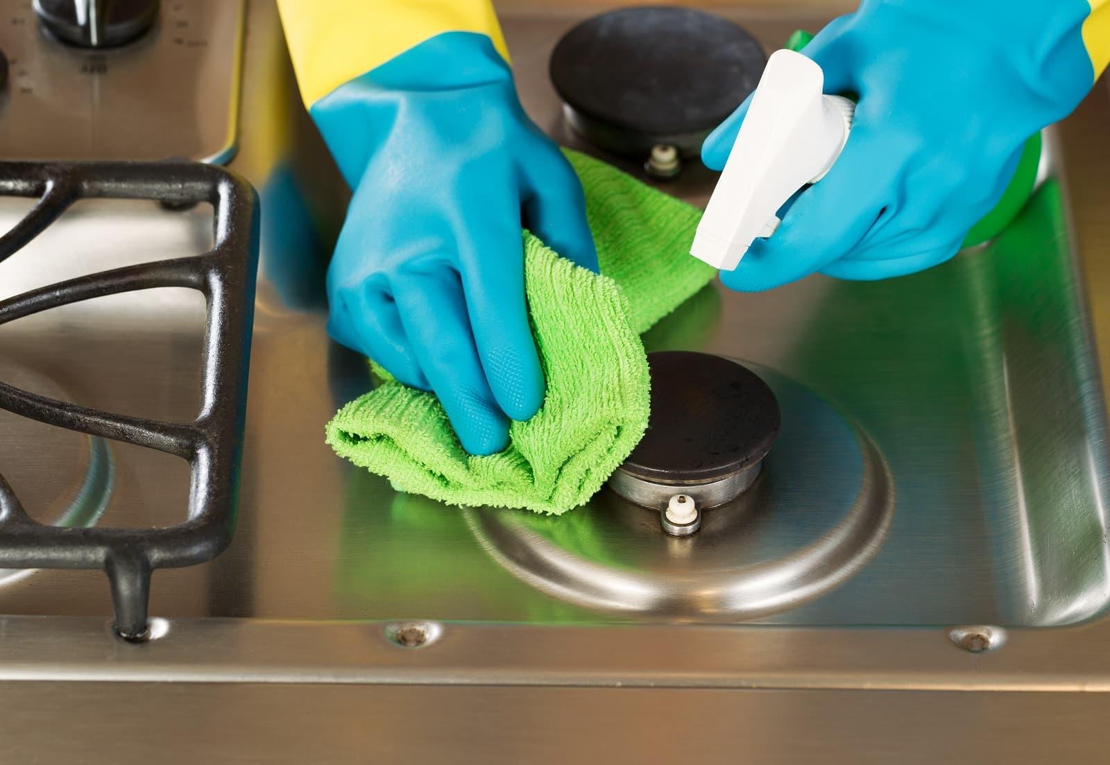 народные способы чистки плиты