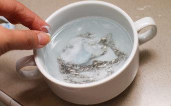 чистка цепочки содой