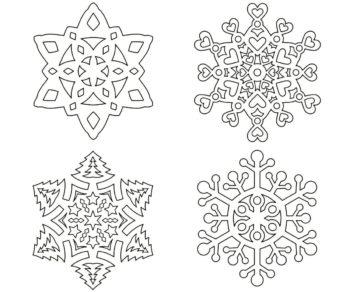 снежинки ажурные