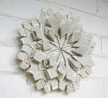 винтажная снежинка