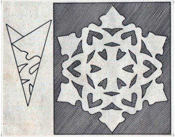 шаблон для снежинки
