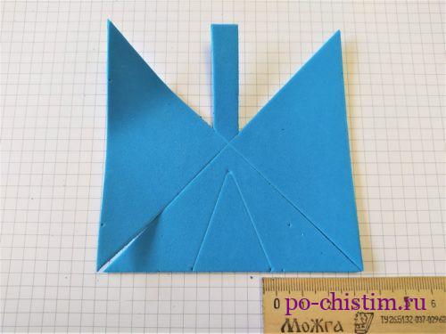 вырезать треугольники